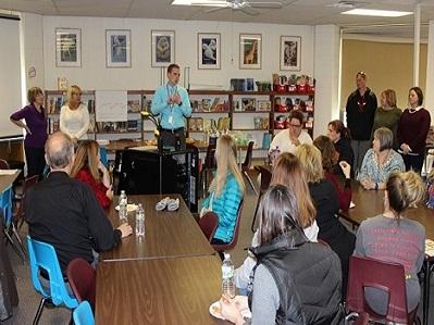 Rotary Visits Earl Hanson Elementary school