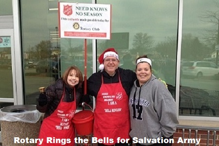 Rotary Rings the Bell for the Salvation Army