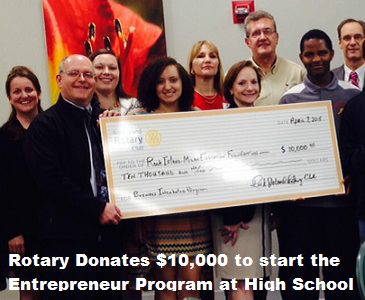 Rotary Donates $10,000 to Rock Island H.S. Entrepreneur Program