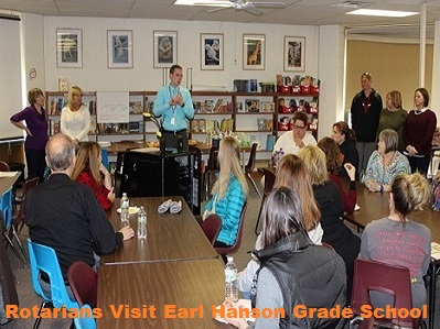 Rotary Visits Earl Hanson Elementary school