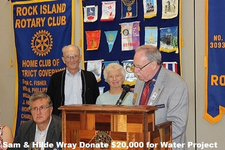 Sam and Hilde Wray Donate $20,000 to WaterProject