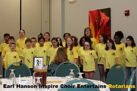 Hanson's Inspire Choir entertains Rotary