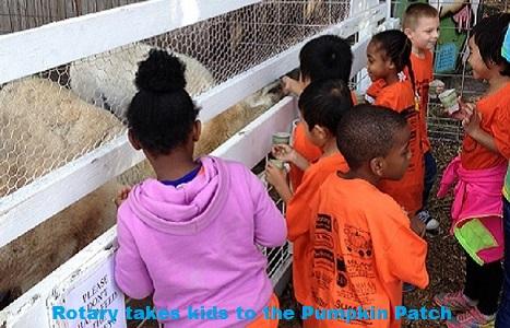 Rotary Sponsors Pumpkin Patch Field Trip